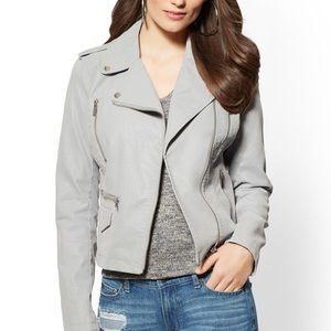 New York and Company grey moto 🏍 jacket XS